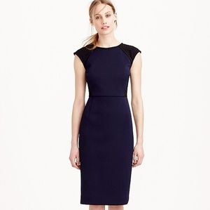 J. Crew Double Faced Pique Eyelet Dress